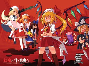 Rating: Safe Score: 49 Tags: dress fairy flandre_scarlet grand_theft_auto group gun hakurei_reimu japanese_clothes jpeg_artifacts kirisame_marisa koakuma long_hair luna_child miko parody patchouli_knowledge red_eyes star_sapphire sunny_milk touhou vampire weapon wings witch User: w7382001
