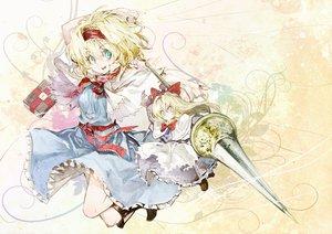 Rating: Safe Score: 69 Tags: alice_margatroid banpai_akira doll mage shanghai_doll spear touhou weapon User: FormX