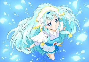 Rating: Safe Score: 16 Tags: aqua_eyes aqua_hair blue dress headdress hugtto_precure long_hair petals precure tagme_(artist) wristwear yakushiji_saaya User: otaku_emmy