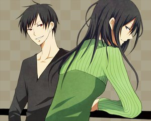 Rating: Safe Score: 17 Tags: black_eyes black_hair durarara!! long_hair orihara_izaya red_eyes short_hair yagiri_namie User: Tensa