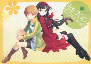 Rating: Safe Score: 67 Tags: 2girls amagi_yukiko h2so4 persona persona_4 satonaka_chie scan tearfish thighhighs User: Xtea
