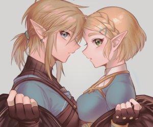 Rating: Safe Score: 35 Tags: blonde_hair blue_eyes braids close cropped gloves green_eyes link_(zelda) loz_017 male pointed_ears ponytail princess_zelda short_hair the_legend_of_zelda User: otaku_emmy