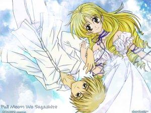 Rating: Safe Score: 3 Tags: arina_tanemura blonde_hair brown_eyes full_moon_wo_sagashite koyama_mitsuki ribbons sakurai_eichi sky User: Oyashiro-sama