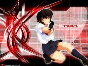 Rating: Safe Score: 5 Tags: black_hair brown_eyes gun noir weapon yuumura_kirika User: Oyashiro-sama