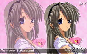 Rating: Safe Score: 19 Tags: blue_eyes clannad gray_hair headband key logo long_hair sakagami_tomoyo zoom_layer User: 秀悟