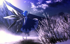 Rating: Safe Score: 58 Tags: barefoot blue_eyes blue_hair cirno dress landscape photo scenic sky suzki00 touhou wings winter User: Flandre93