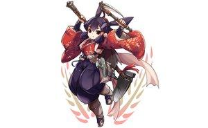 Rating: Safe Score: 27 Tags: bell brown_eyes japanese_clothes karukan_(monjya) purple_hair sakuna-hime scythe tensui_no_sakuna-hime weapon white User: otaku_emmy