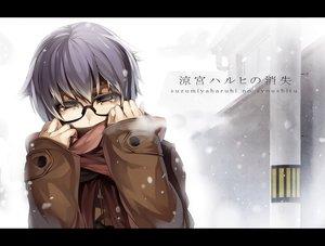 Rating: Safe Score: 144 Tags: glasses nagato_yuki rby scarf snow suzumiya_haruhi_no_yuutsu User: opai