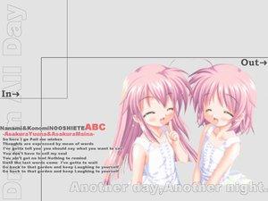 Rating: Safe Score: 7 Tags: 2girls asakura_maina asakura_yuna blush gray hajimete_no_orusuban jpeg_artifacts loli long_hair nanami_to_konomi_no_oshiete_abc pink_hair short_hair studio_ring twins User: Oyashiro-sama