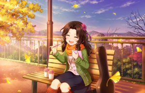 Rating: Safe Score: 13 Tags: annin_doufu autumn book boots brown_hair drink guitar idolmaster idolmaster_cinderella_girls idolmaster_cinderella_girls_starlight_stage instrument leaves long_hair park scarf skirt sunset tagme_(character) User: luckyluna
