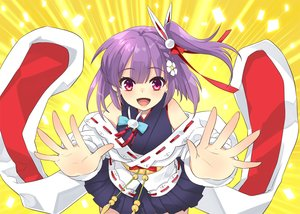 Rating: Safe Score: 44 Tags: braids close itou_noiji japanese_clothes ponytail purple_eyes purple_hair short_hair skirt tenjin_kotone tenjin_kotone_(channel) yellow User: otaku_emmy