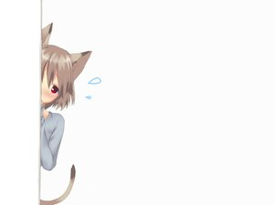 Rating: Safe Score: 131 Tags: animal_ears blush brown_hair catgirl majima_yuki red_eyes short_hair tail User: SciFi
