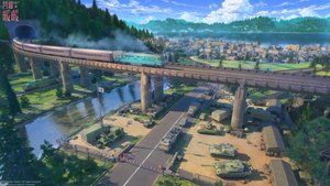 Rating: Safe Score: 96 Tags: 3d arsenixc building car city combat_vehicle forest industrial landscape logo military nobody scenic shining_nikki train tree water watermark User: sadodere-chan