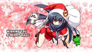 Rating: Questionable Score: 30 Tags: angel_beats! animal blue_hair cat christmas hat katana long_hair red_eyes shiina sword weapon zen zoom_layer User: Oyashiro-sama