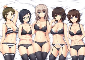 Rating: Questionable Score: 67 Tags: akaboshi_koume black_hair blue_eyes bra breasts brown_eyes brown_hair cleavage garter_belt girls_und_panzer glasses green_eyes group itsumi_erika long_hair mauko_(girls_und_panzer) navel panties ritaiko_(girls_und_panzer) sangou_(girls_und_panzer) short_hair stockings tagme_(artist) thighhighs underboob underwear undressing User: BattlequeenYume