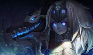 Rating: Safe Score: 222 Tags: animal_ears bow_(weapon) kindred kyomon league_of_legends mask weapon User: luckyluna