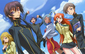 Rating: Safe Score: 16 Tags: code_geass lelouch_lamperouge millay_ashford rivalz_cardemonde rollo_lamperouge shirley_fenette sky viletta_nu User: rargy