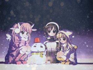 Rating: Safe Score: 9 Tags: koge_donbo misha pita_ten shia snow snowman uematsu_koboshi winter User: Oyashiro-sama