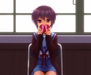 Rating: Safe Score: 121 Tags: akahige candy chocolate nagato_yuki panties purple_eyes purple_hair school_uniform short_hair skirt suzumiya_haruhi_no_yuutsu underwear upskirt valentine User: SciFi