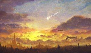 Rating: Safe Score: 58 Tags: animal bird bou_nin clouds landscape nobody original scenic sky sunset User: Flandre93
