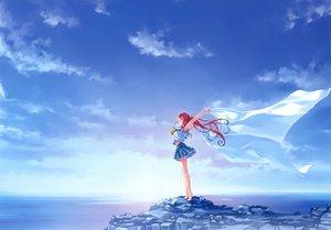Rating: Safe Score: 161 Tags: abhar barefoot clouds deep_blue_sky_&_pure_white_wings misaki_kurehito miyamae_tomoka ponytail red_hair scan scenic school_uniform sky water User: gnarf1975
