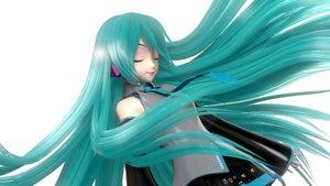 Rating: Safe Score: 36 Tags: 3d aqua_hair hatsune_miku long_hair vocaloid User: luckyluna