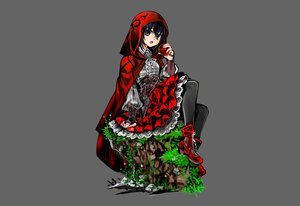 Rating: Safe Score: 46 Tags: aliasing apple armor black_eyes black_hair boots cape corset food fruit goth-loli grass gray hoodie knife little_red_riding_hood lolita_fashion michihisa! original pantyhose red_riding_hood shirt short_hair skirt weapon User: otaku_emmy