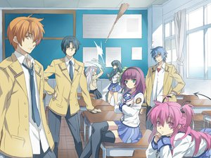 Rating: Safe Score: 82 Tags: angel_beats! glasses hinata_hideki nakamura_yuri otonashi_yuzuru pink_hair ribbons scarf shiina tachibana_kanade takamatsu white_hair yui_(angel_beats!) yukiya User: AliceWonderWorld