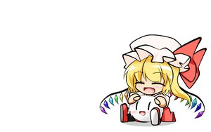 Rating: Safe Score: 25 Tags: chibi fang flandre_scarlet kedama touhou vampire white yashio User: SciFi