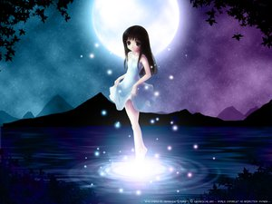 Rating: Safe Score: 39 Tags: black_hair dress furude_rika higurashi_no_naku_koro_ni long_hair moon night User: Oyashiro-sama