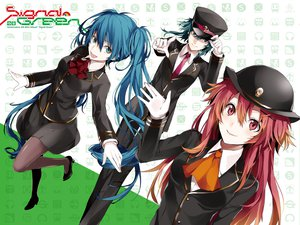 Rating: Safe Score: 68 Tags: 3girls aqua_eyes aqua_hair arisaka_ako blue_eyes blue_hair gloves gumi hat hatsune_miku jpeg_artifacts long_hair nanase_kanon pantyhose pink_eyes pink_hair short_hair suit tie twintails uniform vocaloid User: Wiresetc