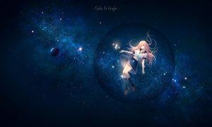 Rating: Safe Score: 65 Tags: bicolored_eyes kneehighs long_hair niya original seifuku skirt space stars tidsean User: RyuZU