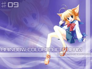 Rating: Safe Score: 1 Tags: blonde_hair nanao_naru rainbow_colored_icecream seifuku thighhighs User: Oyashiro-sama