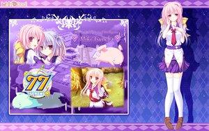 Rating: Safe Score: 32 Tags: 77 long_hair mikagami_mamizu pink_hair purple_eyes school_uniform tsuneha_miki User: oranganeh