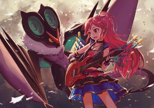 Rating: Safe Score: 110 Tags: aikatsu! brown_eyes collar crossover gloves guitar instrument long_hair necklace noivern noske otoshiro_seira pokemon red_hair skirt wings User: Maboroshi