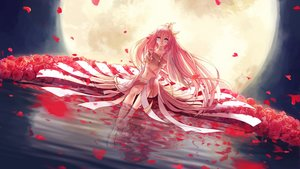 Rating: Safe Score: 223 Tags: blue_eyes flowers ia l-kun long_hair moon petals pink_hair rose vocaloid water User: FormX