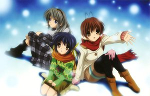 Rating: Safe Score: 38 Tags: clannad furukawa_nagisa sakagami_tomoyo sunohara_mei User: HawthorneKitty