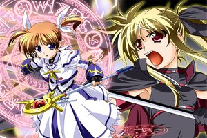Rating: Safe Score: 10 Tags: fate_testarossa magic mahou_shoujo_lyrical_nanoha takamachi_nanoha User: HawthorneKitty