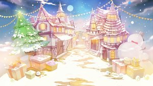 Rating: Safe Score: 20 Tags: bow building christmas clouds hat nobody original scenic sibyl sky snow snowman stairs tree User: RyuZU