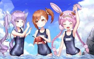 Rating: Safe Score: 42 Tags: akane_mimi clouds hikawa_kyoka hodaka_misogi loli mannack princess_connect! school_swimsuit sky swimsuit twintails water wink User: BattlequeenYume