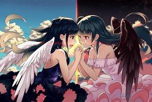 Rating: Safe Score: 135 Tags: angel blue_eyes dress kohaku_(ambermoe) long_hair love_live!_school_idol_project love_live!_sunshine!! purple_eyes tsushima_yoshiko wings User: RyuZU
