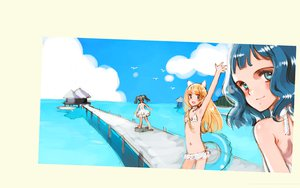 Rating: Safe Score: 8 Tags: animal_ears bikini black_hair blonde_hair blue_eyes blue_hair catgirl dress ema littlewitch long_hair oyari_ashito sayu shirotsume_souwa short_hair summer_dress swimsuit toka twintails User: 秀悟