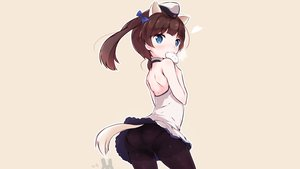 Rating: Safe Score: 86 Tags: animal_ears ass blue_eyes blush brave_witches brown_hair food georgette_lemare hat mikkabi_bin panties pantyhose tail twintails underwear upskirt world_witches_series User: Shaggy410