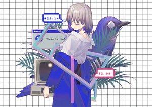 Rating: Safe Score: 42 Tags: animal bird computer gray_hair original shirt short_hair zicai_tang User: otaku_emmy