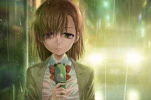 Rating: Safe Score: 107 Tags: brown_eyes brown_hair misaka_mikoto misakamitoko0903 phone rain see_through short_hair to_aru_kagaku_no_railgun to_aru_majutsu_no_index wet User: opai