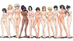 Rating: Explicit Score: 735 Tags: aliasing bleach blush breasts dark_skin group inoue_orihime ise_nanao kagami_hirotaka kotetsu_isane kotetsu_kiyone kuchiki_rukia kurotsuchi_nemu matsumoto_rangiku nipples nude pubic_hair pussy shiba_kuukaku shihouin_yoruichi soifon tattoo uncensored unohana_retsu User: Darrison365