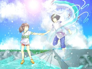 Rating: Safe Score: 15 Tags: ghibli long_hair nigihayami_kohakunushi ogino_chihiro spirited_away summer User: spiritedaway18