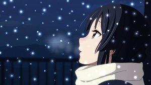 Rating: Safe Score: 163 Tags: akiyama_mio black_hair blue_eyes k-on! scarf snow User: meccrain