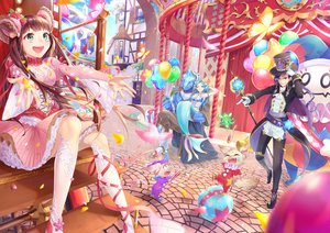 Rating: Safe Score: 50 Tags: animal animal_ears aqua_eyes aqua_hair ball blue_hair breasts brown_eyes brown_hair building butterfly cape city cleavage fairy feathers gloves green_eyes lolita_fashion long_hair male mermaid original para_sitism petals ribbons short_hair tail wink User: RyuZU