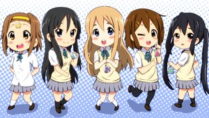 Rating: Safe Score: 26 Tags: akiyama_mio black_hair blue_eyes blush brown_eyes brown_hair chibi diesel-turbo group headband hirasawa_yui kneehighs k-on! kotobuki_tsumugi long_hair nakano_azusa pantyhose seifuku skirt tainaka_ritsu twintails wink User: RyuZU